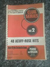 Club series no 2 48 acuff_ rose hits piano or organ with lyrics book vintage