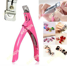 3 Ways False Nail Cutter Artificial Acrylic Art UV Manicure Tip Toe Edge Clipper