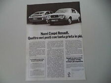 advertising Pubblicità 1976 RENAULT COUPE' 15/177