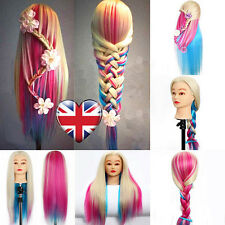Practice Head colorful Hair Model Hairdressing Mannequin Doll Clamp Novelty