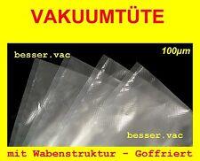 100 St. Vakuumbeutel Goffriert 15x20 cm Wabenstruktur für z.B. FoodSaver, Krups