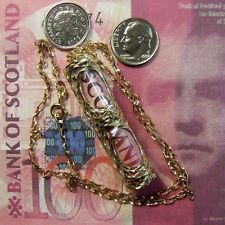 9ct gold genuine Scottish £100 bank note in pendant & chain