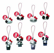KISS HELLO KITTY DANGLERS KEYRING PHONE CHARM GACHA 2 SETS 4 HEADS + 4 FULL BODY