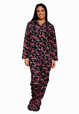 HELLO KITTY Sweet Affection Hooded Footie Footed Pajamas (Black) NWT S LAST ONE