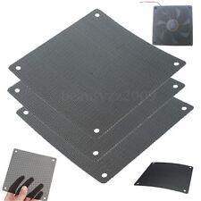 2Pcs Cuttable Black PVC PC Fan Dust Filter Dustproof Case Computer Mesh 120mm