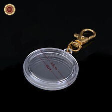 Clear Acrylic Coin Display With Keychain 24k Gold Keyring Holder For A 40mm Coin