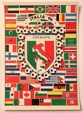 Cartolina Italia 90 - C'Ero Anch'Io Stemma Italia Stivale Bandiere