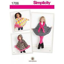SIMPLICITY SEWING PATTERN CHILD'S FLEECE CAPS SIZES S - L  1706