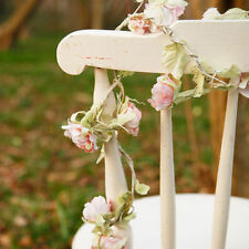 4 x Shabby Vintage Light Pink Rose Flower Garland Bedroom Wedding Decoration