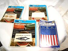 4-Vintage Trimbrite Customizing kits Black/Beige/White Pin striping & Chrome USA