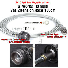 (2016 Apr. New) G Works 1lb Multi Gas Extension Hose 100cm Screwtype to LPG
