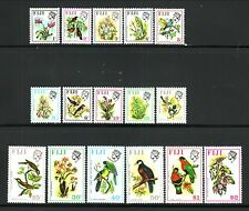 Fiji--#305-20 MNH--Birds & Flowers--1971/72
