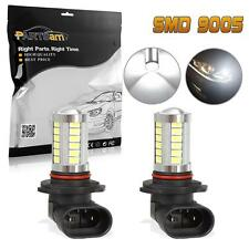 TWO 9005 HB3 9055 White 7000k Led Bulbs Replacement for Fog Driving Light