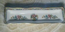 "Vintage Coalport Ming Rose Pin / Trinket Tray DIsh 8 3/4"" Made in England"
