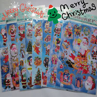 20*25cm Christmas Stickers Kids Xmas Craft Card-Making Home Wall Decor Gift 2Pc