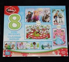 Mega Puzzles Disney 8 Family Puzzle Pack:  Frozen, Toy Story, Mickey and Friends