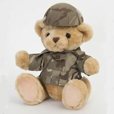 Teddy Bear Jointed Army Military Soldier w/Camo Replica Uniform and Helmet NEW