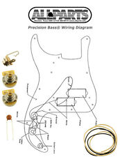 NEW Precision Bass Pots Wire & Wiring Kit for Fender P Bass Guitar Diagram