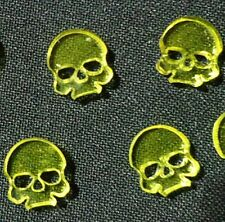 TT Combat Wargames - Wound Markers - Yellow Transparent Acrylic Skulls x 10