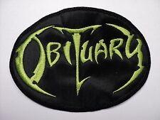 OBITUARY GREEN LOGO  EMBROIDERED PATCH
