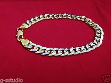 Men's Boy's Designer Stylish Jewellery 2 Tone Metal Chain Bracelet