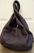 100% Authentic Bottega Veneta Deerskin Cervo Hobo in Quetsche Purple   MINT!