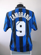 Ivan ZAMORANO #9 Inter Milan Home Football Shirt Jersey 1996/97 (L)
