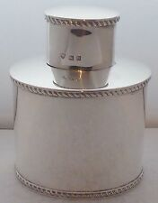 Birmingham 1926 Hallmarked Solid Silver Tea Caddy Box 205.8g JB Chatterley & Son