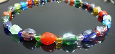 Rainbow Nugget Glass Multi Colour Necklace