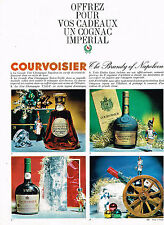 PUBLICITE ADVERTISING  1963   COURVOISIER   THE BRANDY OF NAPOLEON