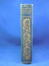 1905 THE RETURN OF SHERLOCK HOLMES A. Conan Doyle Special Edition