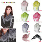 Autumn Summer Women's Embroidery Rose Lace Triangle Pendant Scarf Shawls Wraps