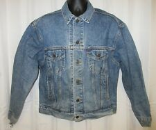 "Vtg 80s 90s M 46"" Levis Denim Jean Jacket Trucker Usa Ranch Country Distressed"
