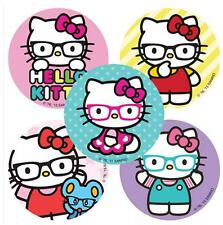 "30 Assorted Hello Kitty Nerd Glasses Stickers, 2.5""x2.5"" each, Party Favors"