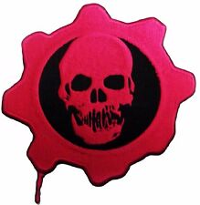 """Gears of War RED OMEN 2"""" Logo Iron-on/Sew-on Embroidered PATCH"""