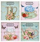 Cup Of Tea ~ Chic Card Making Toppers / Scrapbooking / Crafting