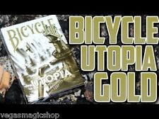 Utopia Gold Deck Bicycle Playing Cards Poker Size USPCC Custom Limited Ed Sealed