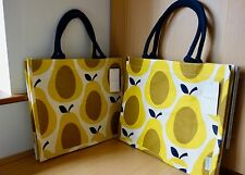 2 x Orla Kiely Jute Shopping Bags - Yellow Pears - Limited Edition
