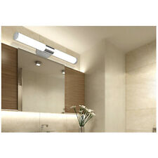 Stainless Steel LED Mirror Lamp Bathroom Toilets Wall Make-up Light  Brief  Tube