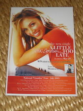 DELTA GOODREM -  AUSTRALIA  TOUR 2005 -  COUNTER TOUR POSTER