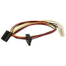 Evercool EC-ST004 4 pin PSU Molex to Dual 15 pin SATA Power Cable Adapter 50cm