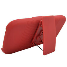 For T-Mobile Samsung Galaxy S II 2 COMBO Belt Clip Holster Case Cover Stand Red