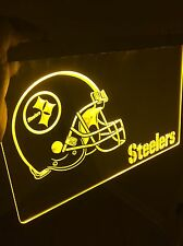 NFL Pittsburg STEELERS LED Sign for Game Room,Office,Bar,Man Cave, Decor