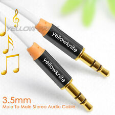 Gold 3.5mm AUX AUXILIARY CORD Male to Male Stereo Audio Cable for iPod MP3 CAR