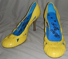 Spring time Yellow Naughty Monkey Pumps Heels size 7.5 7 1/2