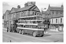 pt9135 - Doncaster Trolleybus 357 under repair in 1955 - photograph