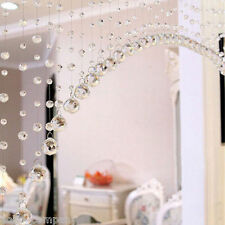 1M Glass Crystal Clear Beaded Hanging Curtain String Bedroom Window Room Decor