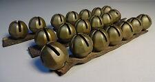 A Set Of 20 Antique Brass Sleigh Bells Nice Patina!