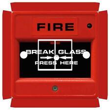 Commutateur de pause feu verre Autocollant pour Crabtree 4172 double avec des trous