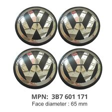 4Pcs 65mm Wheel Center Cap 3B7601171 Emblem For Volkswagen VW Golf Jetta Passat